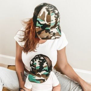 Accessories - Camo SnapBack Hats for Adult and Toddler